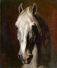 Tête de cheval blanc de T. Géricault
